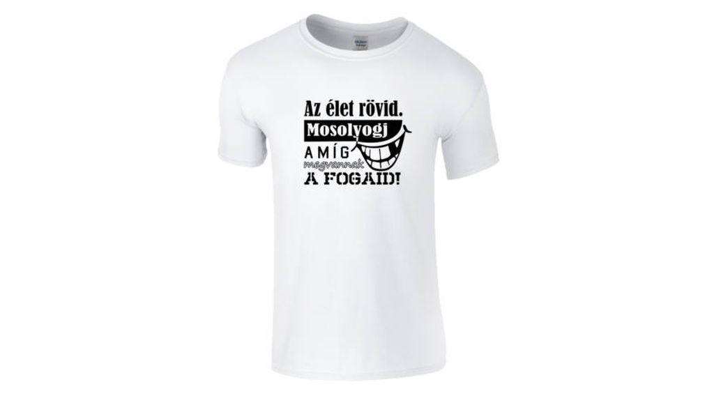 3151cf8c21 Feliratos férfi póló - Az élet rövid